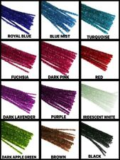 """12"""" TINSEL CHENILLE ( PIPE CLEANER ) 6MM STEMS 25 Per Color CHOOSE From 14 COLOR"""