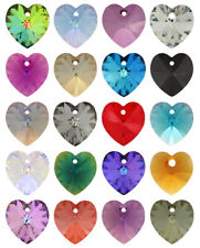 SWAROVSKI ELEMENTS 6228 Heart Pendant - All Sizes & All Colours
