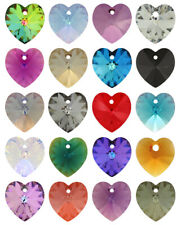 Genuine SWAROVSKI 6228 XILION Heart Crystals Pendants * Many Colors & Sizes