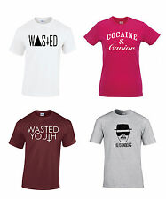100% Cotton T-Shirt WASTED YOUTH DOPE SWAG TUMBLR HYPE HIPSTER STREET