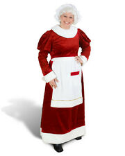 Female Mrs Miss Santa Claus Girl Woman Christmas Xmas Red Costume Set Dress Gown