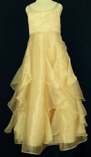 Light Gold Flower Girl Bridesmaids Formal Girls/Kids Dress- Size 4 6 8 10 12 14