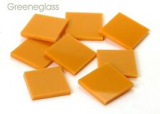 Orange Persimmon Opal Fusible 96 Mosaic Glass Tile Cut to Order Shapes Half Pack