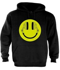 Headphone Smiley Hoodie Acid House Cans MUSIC RAVE WEED DOPE FRESH CLUB DJ MOLLY