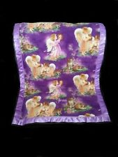 Victorian Purple with Angels Personalized Fleece Blanket
