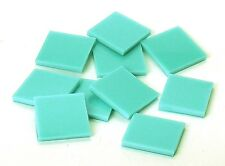 Turquoise Green Opal 96 coe Fusible Mosaic Glass Tile Cut to Order Shape Lg Pack