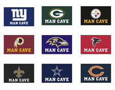 Choose Your NFL Team 5 x 6' Man Cave Tailgater Indoor Outdoor Area Rug Floor Mat