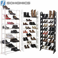 Songmics 10 Tier Shoe Rack Shoes Cabinet Stand Standing Storage Organizer