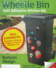 Wheelie Bin Self Adhesive Sticker Kits many variety animals flowers woodland
