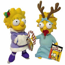 """THE SIMPSONS CHRISTMAS SOFT TOYS PLUSH LISA MAGGIE 12"""" LARGE XMAS EXCLUSIVE TOY"""