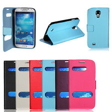Flip Leather Hollow View Case Cover w/Stand for Samsung Galaxy S4 i9500 S3 i9300