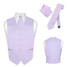 Men's Dress Vest NeckTie LAVENDER PUPRLE Neck Tie Set for Suit or Tuxedo