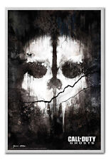 Framed Call Of Duty Ghosts Skull Poster Ready To Hang - Choice Of Frame Colours