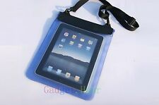"Blue Waterproof Dry Bag Pouch Case Cover FOR PC Tablet Ebook Reader 8"" 8in new"