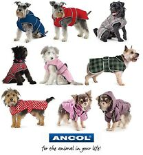 Ancol Muddy Paws Dog Coats All Weather Fleece Lined Stormguard Tartan Thermal