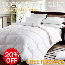 2 4kg DUCK DOWN KING SIZE BED FEATHER DOONA DUVET QUILT | eBay : duck feather quilt king size - Adamdwight.com