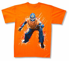 "WWE WRESTLING ""REY MYSTERIO"" PHOTO ORANGE T-SHIRT NEW OFFICIAL YOUTH KIDS ADULT"