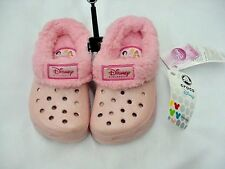 NWT CROCS MAMMOTH DISNEY PRINCESS COTTON CANDY/PINK C 6/7 8/9 10/11 12/13 LINED