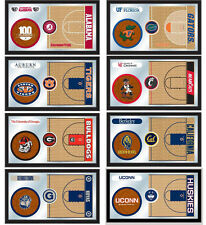 """Choose Your NCAA A-J Team 26x15"""" Framed Lithograph Color Basketball Wall Mirror"""
