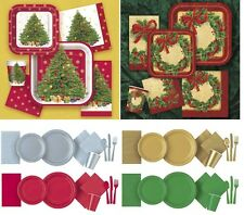 CHRISTMAS PARTY Tableware / Decorations Napkins, Plates, Cups, Tablecloth cover