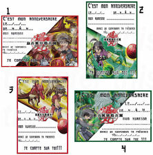 CARTE INVITATION ANNIVERSAIRE BAKUGAN