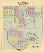 Historic City - AUSTIN AND PRESTON MINNESOTA - A.T. ANDREAS 1874