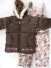 NWT 4 5/6 6X Girls London Fog Snowsuit ski outfit with bib snow pants $95RV