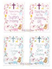 BABY CHRISTENING INVITES & THANK YOU NOTES ~ Pick 1 Create Set - Son Daughter