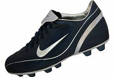 Mens Nike Pace Vapor VT Football Cleat Navy Blue White Silver 307751-412
