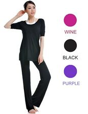 athletic bamboo fabric ladies sports clothes yoga pants Women's set (2 Pieces)