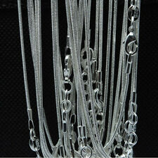 Bulk Silver Snake Necklace Chains 1MM Silver Jewelry Necklaces 10 20 50 100PCS