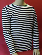 Russian WINTER Telniashka FastShipFromUSA BLACK STRIPED SHIRT Soviet Navy Sailor