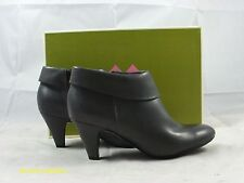 Z 207 Naturalizer Bates Gray Smooth Leather Ankle Bootie-FLOOR SAMPLE