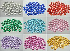 200 Flatback Acrylic Round Sewing Rhinestone Button Beads 10mm Pick Your Color