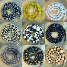 17inches 6mm-14mm Faceted Stone Graduated Round Gems Beads Pick Stone