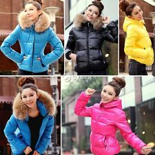 Women's Winter Parka Coat Warm Hoodie Faux Fur Collar Outwear Zipper Down jacket