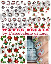 WATER DECALS NATALE STICKERS UNGHIE CHRISTMAS NAIL ART ADESIVI PROFESSIONALI