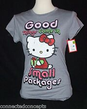 Christmas Hello Kitty Good Things Come in Small Packages Women's T-shirt XS-XXL