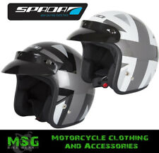 SPADA BRIT NINETY2 UNION JACK OPEN FACE MOTORCYCLE MOPED SCOOTER HELMET - SALE