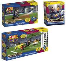 FC Barcelona, building bricks game, pitch and play, spot kick and mini-figures