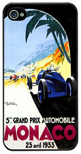 Monaco Grand Prix 1933 Cover/Case For iPhone 4/4S. Vintage Poster Gift