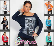 ☼ Unique Women's Blouse Top with Logo ☼ Hot Colors Batwing Style Kimono FB1027