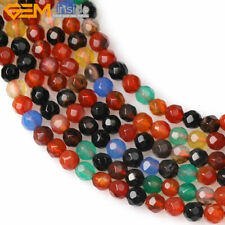 """Faceted Multi-Color Mixe Agate Stone Mixed Beads Jewelry Making 15"""" Wholesale"""