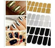 pretty 16pcs Smooth Nail Art Sticker Patch Foils Armour Wraps Decoration Cool jt