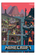 Minecraft Large 24 x 36 Video Game Wall Poster New - Laminated Available