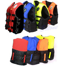 Adult Swimming Polyester Foam Life Jacket Vest Whistle Foam Fully Enclosed L XL