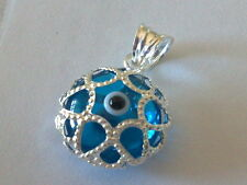 Silver Turkish Evil Eye Protection Pendants Various Colors Shapes & Sizes