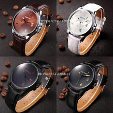 6 Colors Fashion WristWatch Analog Unisex Men Boy Lady Steel Quartz Leather Gift