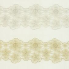 Flower Metallic Embroidered Venise Lace Trim #276 - Bridal Wedding Accessories