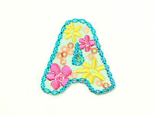 Embroidered & Sequinned Iron or Sew on Fabric Alphabet Letter Motif Applique A-Z